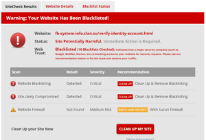 Support Page Account Blacklist