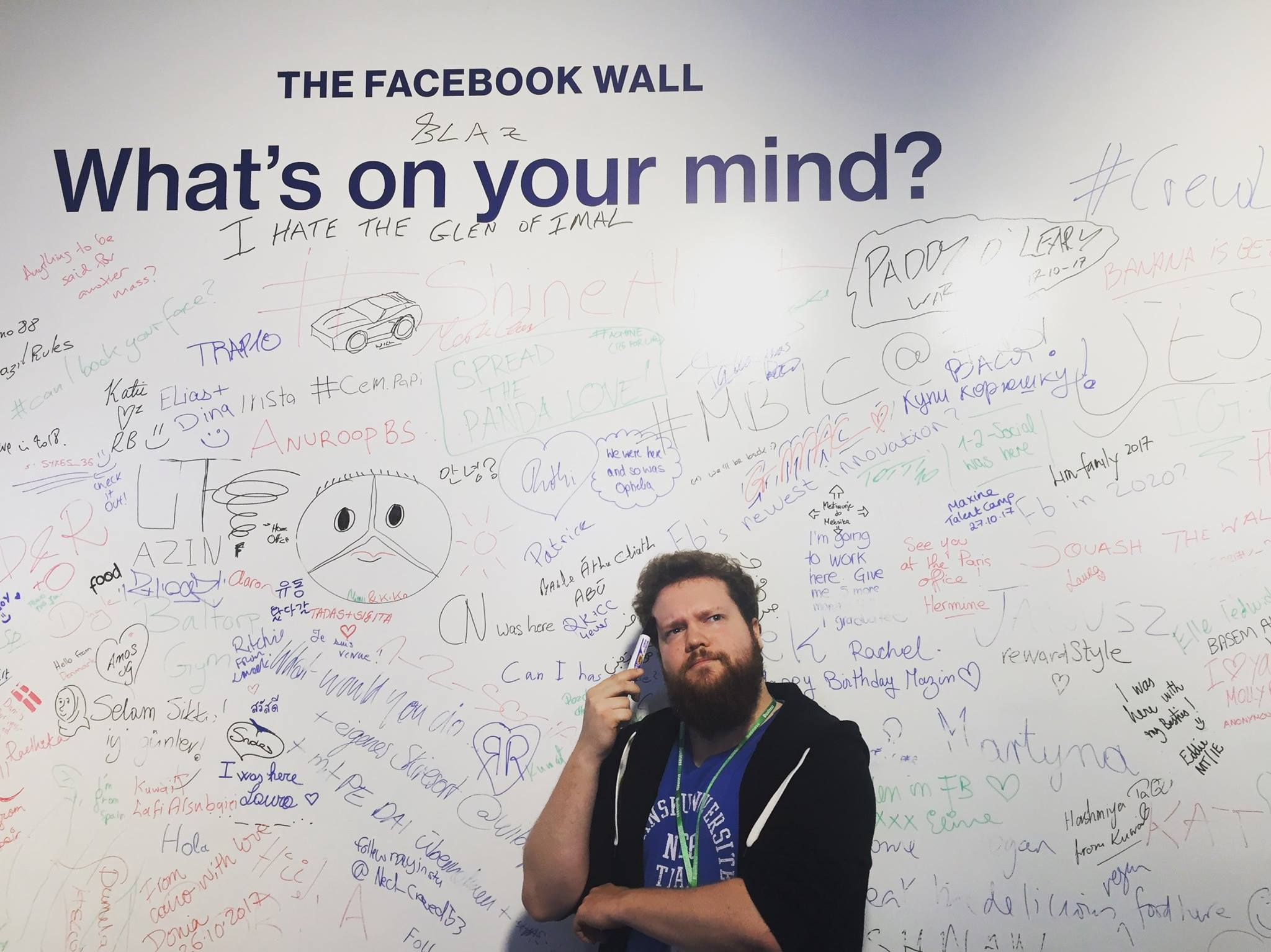 Søren and the Facebook wall